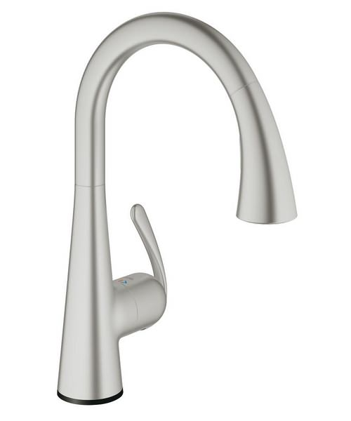 Grohe Zedra Touch Electronic Single Lever Sink Mixer Tap Supersteel
