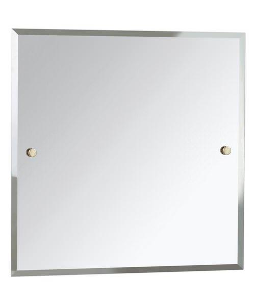 Bristan Square 600 x 600mm Mirror Gold