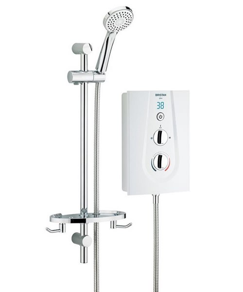 Bristan Glee 10.5KW Electric White Shower