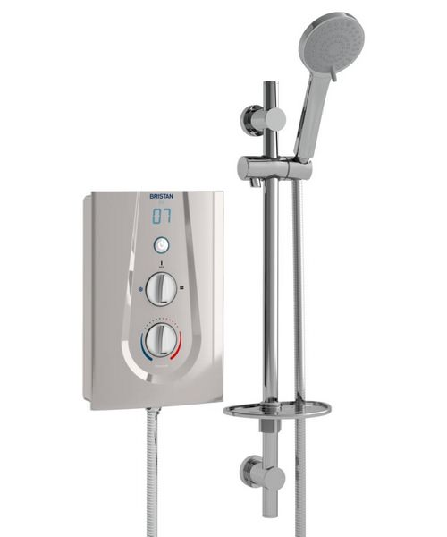 Bristan Joy 9.5KW Electric Shower Metallic Silver