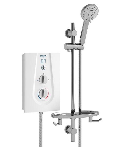 Bristan Joy 9.5KW Electric White Shower