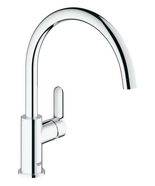 Grohe BauEdge Deck Mounted Kitchen Sink Mixer Tap