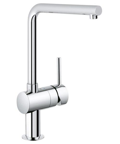 Grohe Minta L Spout Kitchen Sink Mixer Tap Chrome