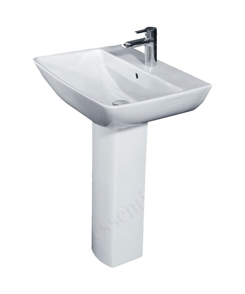 Essential Jasmine 600mm Basin With Full Pedestal