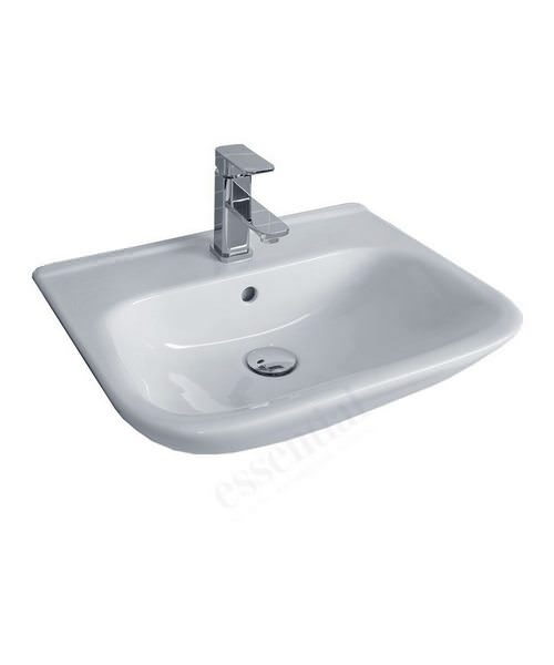 Essential Violet 520mm Semi Recessed Basin With 1 Tap Hole