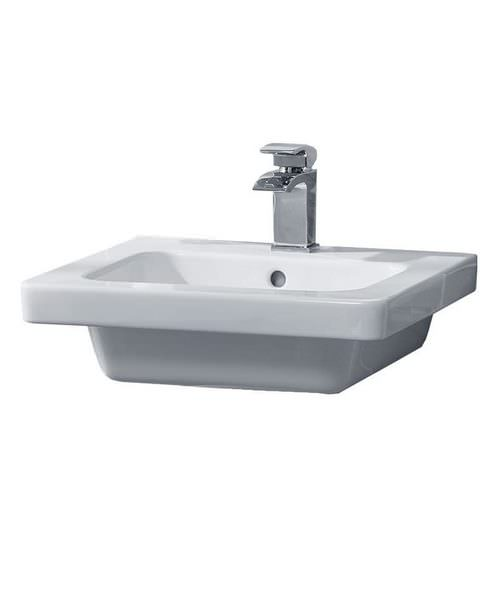 Essential IVY 500 x 460mm Basin With 1 Tap Hole