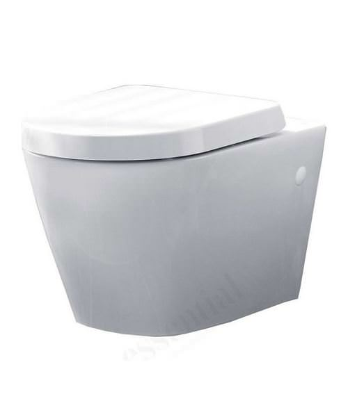 Essential IVY Wall Hung WC Pan And Soft Close Seat