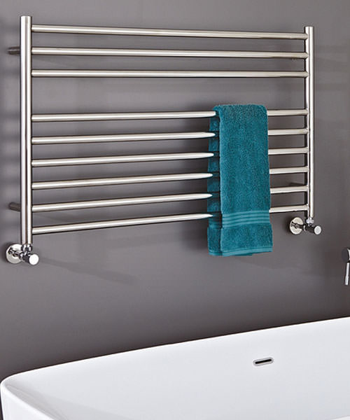 Phoenix Zonta 1200 x 400mm Pre-Filled Electric Radiator Stainless Steel