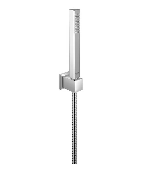 Grohe Euphoria Cube Chrome Hand Shower With Wall Holder Set