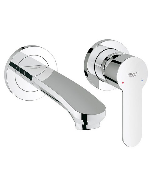 Grohe Eurostyle Cosmo Wall Mounted Two Hole Basin Mixer Tap