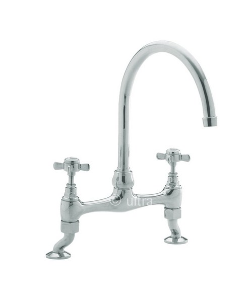Bridge Kitchen Sink Mixer With Crosshead Handles From Ultra