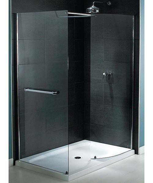 Aqualux Shine Walk-In Shower Enclosure 1400mm x 800mm Silver