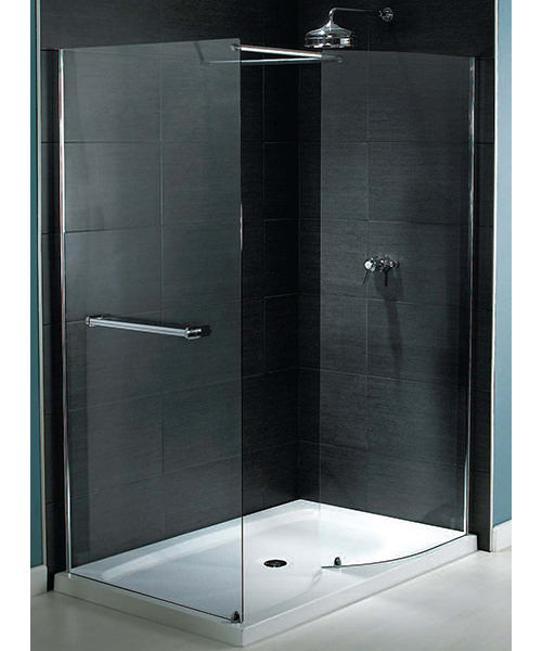 Aqualux Shine Walk-In Shower Enclosure 1400mm x 900mm Silver