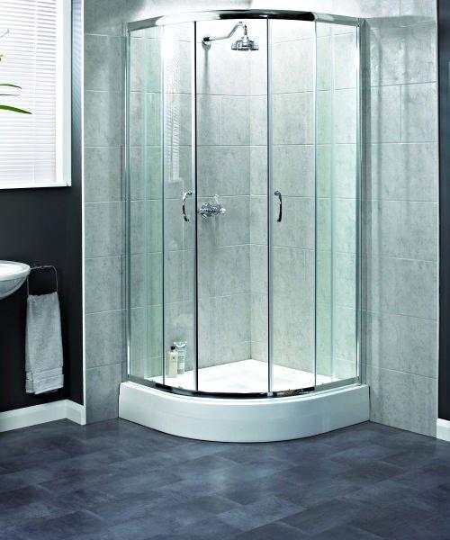 Aqualux Shine Quadrant Shower Enclosure 800mm x 800mm