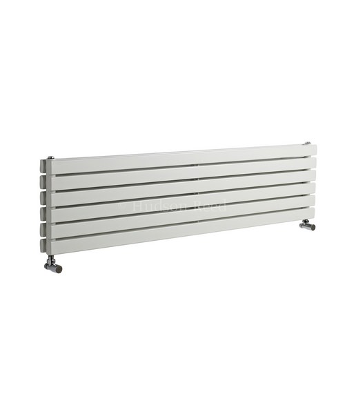 Hudson Reed Sloane 1800x354mm Double Panel Horizontal Radiator - White