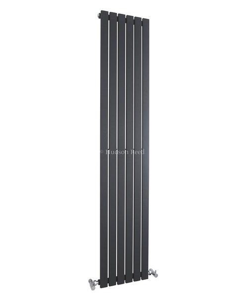 Hudson Reed Sloane 354x1800mm Single Panel Vertical Radiator - Anthracite