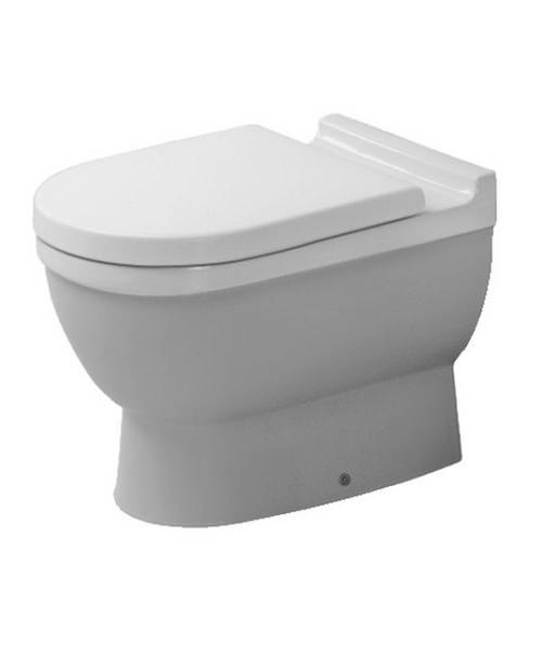duravit starck 3 white finish floor standing toilet 560mm. Black Bedroom Furniture Sets. Home Design Ideas