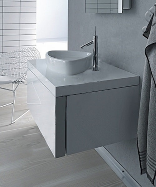Duravit Starck 1 Oak 835 x 565mm Wall Mounted Vanity Unit