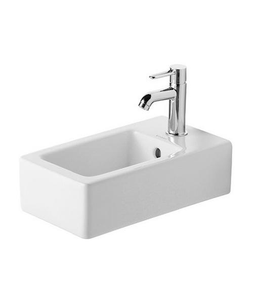 Duravit Vero Handrise Washbasin White 250 x 450mm With Overflow