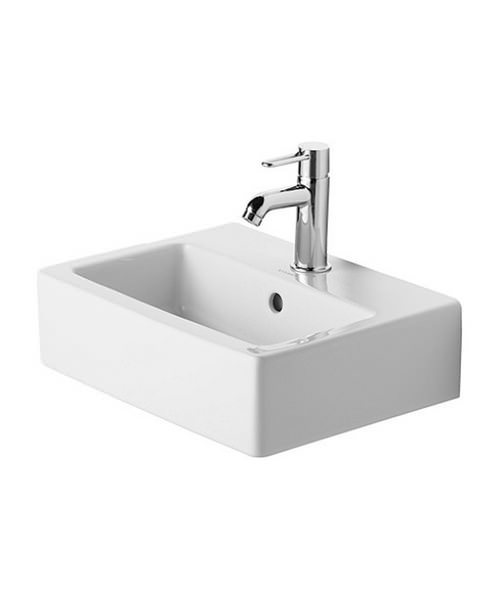Duravit Vero 450 x 350mm 1 Tap Hole Ground Handrise Washbasin