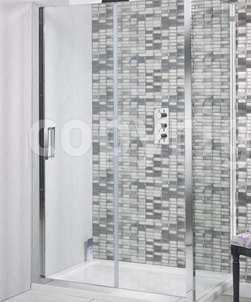 Simpsons Elite 1700 x 1950mm Single Slider Shower Door