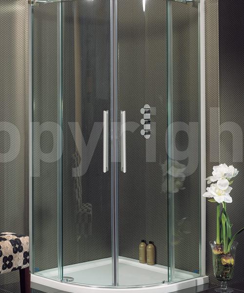 Simpsons Ten 1000 x 1000mm Quadrant Double Door Shower Enclosure