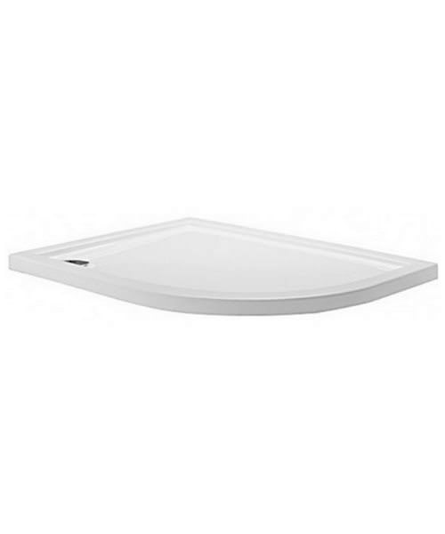 Simpsons Offset Quadrant 1000 x 800 Low Profile Shower Tray Right