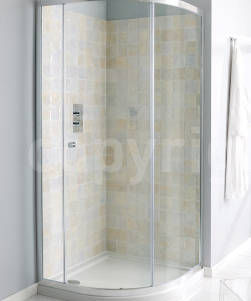 Simpsons Edge Single Door Quadrant Shower Enclosure 900 x 900mm