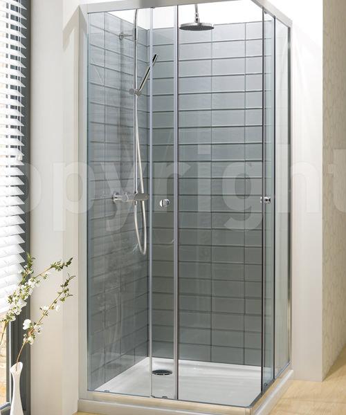 Simpsons Edge 760mm Corner Entry Shower Enclosure