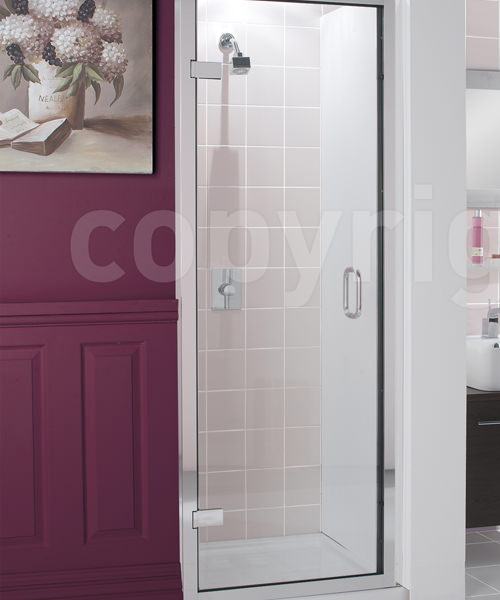 Simpsons Classic Frameless 900mm Hinged Shower Door