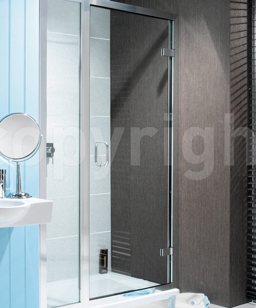 Simpsons Classic Hinged Shower Door With Inline Panel 1000mm