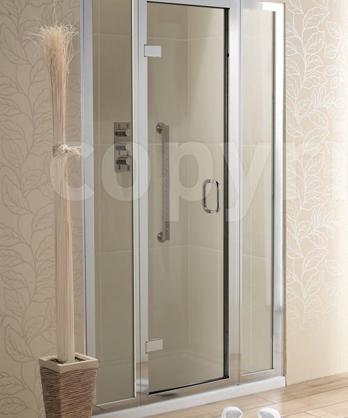Simpsons Classic 1600mm Hinged Shower Door With 2 Inline Panels