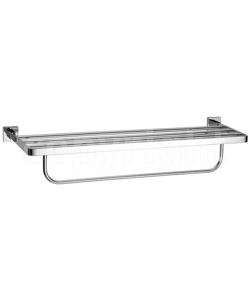 Crosswater Zeya 600mm 2 Tier Towel Rail Chrome