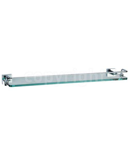 Crosswater Zeya 500mm Glass Shelf With Rail