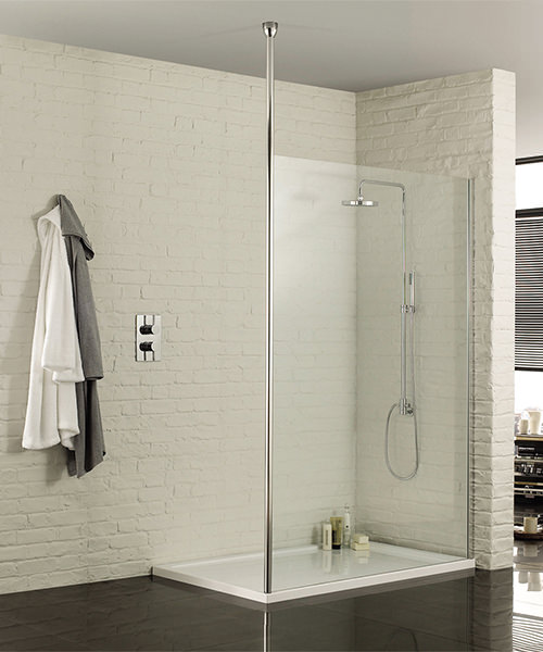 Aquadart 3000mm Floor To Ceiling Post For Wetroom Glass Panel