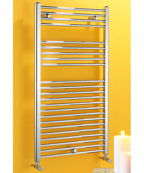 Biasi Dolomite Chrome Straight 300mm Wide Towel Rail