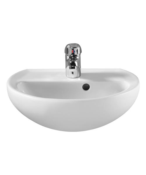 Twyford Alcona Single Tap Hole 400 x 330mm Handrinse Bathroom Sink