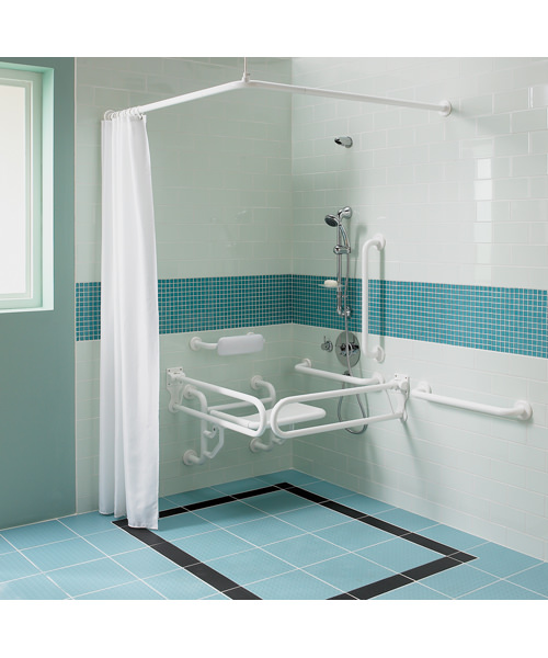 Twyford Doc.M Shower Pack With Grab Rails And Seat