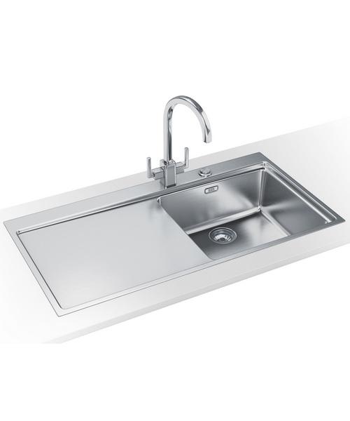 Franke Mythos Sink And Tap Pack : Franke Mythos MMX 211 DP-Stainless Steel Left Drainer Sink And Tap