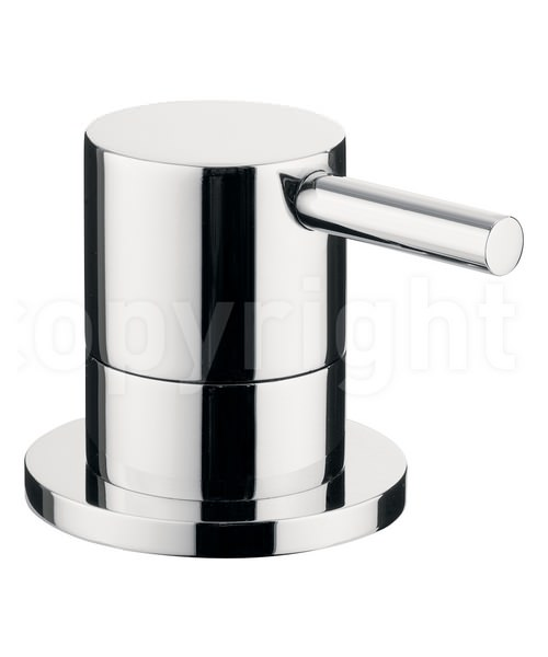 Crosswater Kai Lever 3 Way Deck Mounted Chrome Diverter Valve