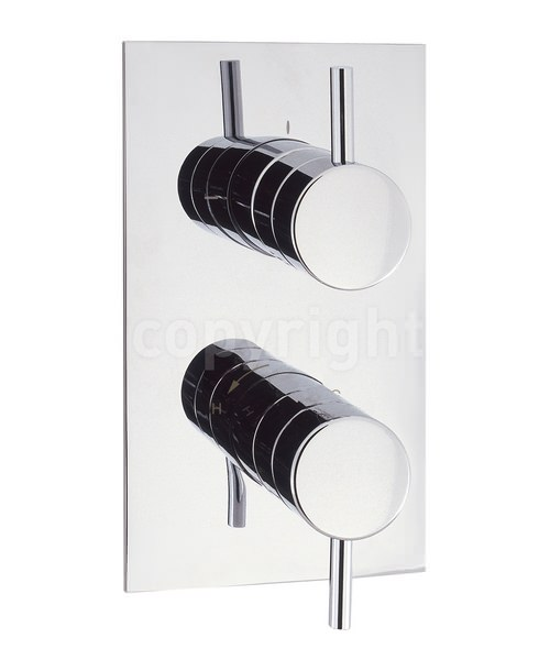 Crosswater Kai Lever Thermostatic Portrait Shower Valve With 2 Way Diverter