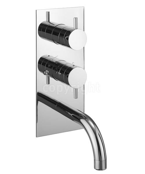 Crosswater Kai Lever Thermostatic Shower Valve With Diverter And Spout
