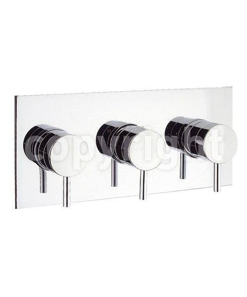 Crosswater Kai Lever Thermostatic 3 Control Landscape Shower Valve