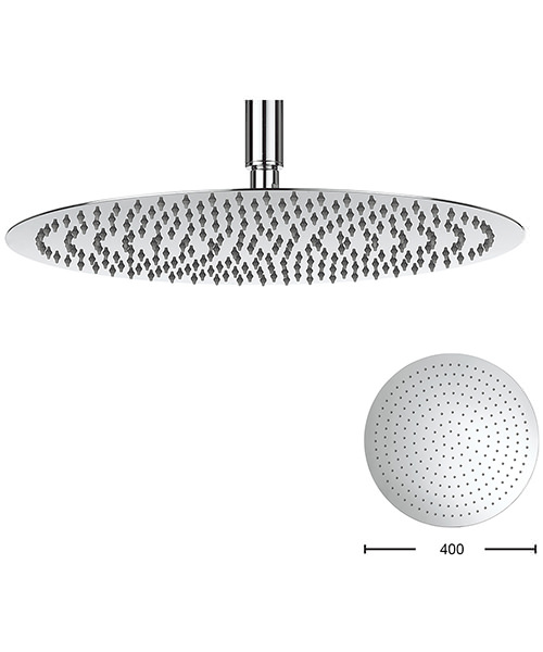 Crosswater Central 400mm Stainless Steel Round Shower Head