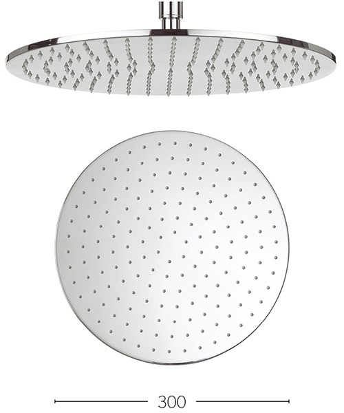 Crosswater Contour 300mm Round Shower Head