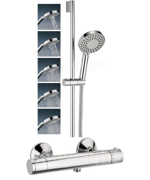 Crosswater Kai Lever Exposed Thermostatic Valve With 5 Mode Shower Kit