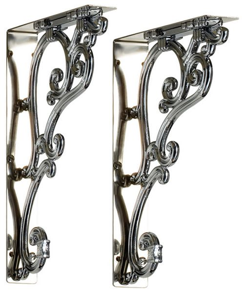 Burlington Chrome Plated Medium Ornate Bracket