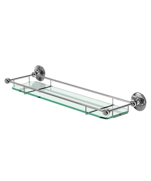 Burlington Chrome Plated Shelf With Railing