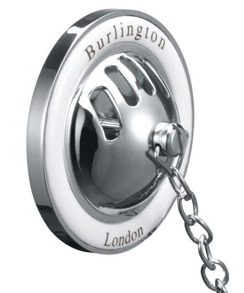 Burlington Chrome Plated Bath Overflow Plug And Chain