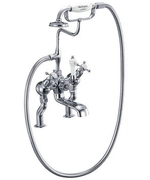 Burlington Claremont Angled Bath Shower Mixer Tap Deck Mounted